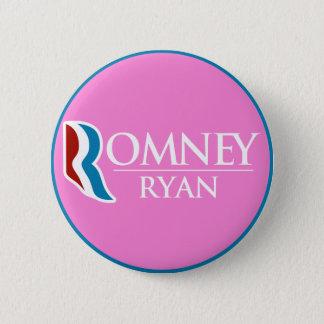 円形Romneyライアン(ピンク) 5.7cm 丸型バッジ