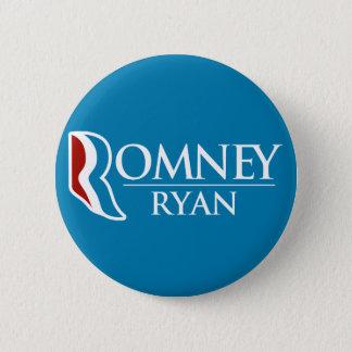 円形Romneyライアン(淡いブルー) 5.7cm 丸型バッジ