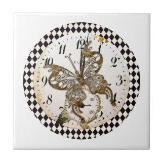 円形Steampunkの蝶 タイル