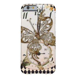 円形Steampunkの蝶 iPhone 6 ベアリーゼアケース