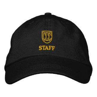 円猫クラブスタッフの帽子 刺繍入りキャップ