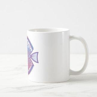 円盤投げのアクアリウムの魚 コーヒーマグカップ