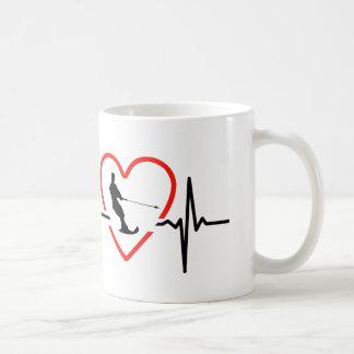 円盤投げの心拍のデザイン コーヒーマグカップ