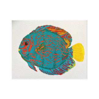 円盤投げの魚のプリント キャンバスプリント