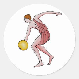 円盤投げ選手396紀元前に ラウンドシール