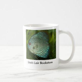 円盤投げ- Symphysodonのaequifasciatusの広告宣伝 コーヒーマグカップ