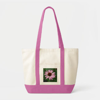 円錐形の花および緑 トートバッグ