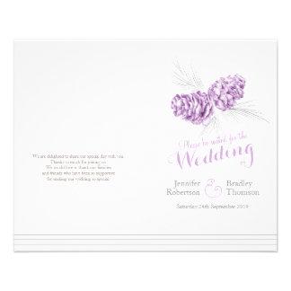 円錐形|紫色|灰色|冬|秋|結婚|プログラム 11.4CM X 14.2CM チラシ