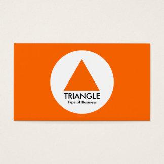 円-三角形-オレンジ 名刺