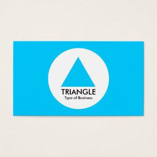 円-三角形-スカイブルー 名刺