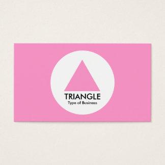 円-三角形-ピンク 名刺