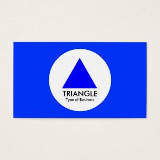 円-三角形-青 名刺