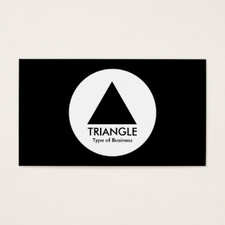 円-三角形-黒 名刺