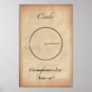 円-古代数学ポスター ポスター