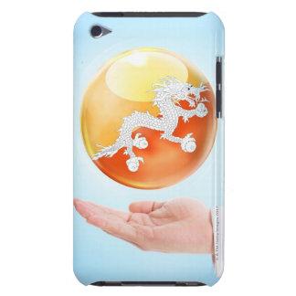 円、球、球体、球、手、男性、オフィス Case-Mate iPod TOUCH ケース