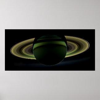 再び訪問される土星の食 ポスター