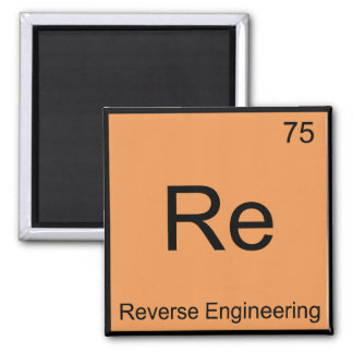 再リバースエンジニア化学要素の記号 マグネット