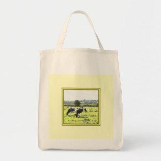再使用するべき田園場面バッグ トートバッグ