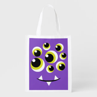 再使用可能なモンスターのトリック・オア・トリートのバッグ エコバッグ
