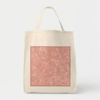 再使用可能なレトロのしぶきのモモのピンク トートバッグ