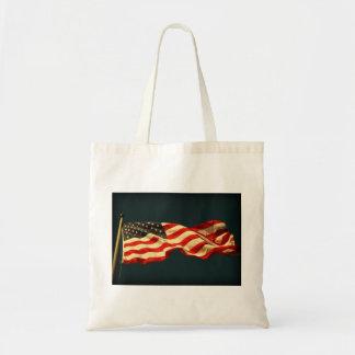 再使用可能な米国旗 トートバッグ