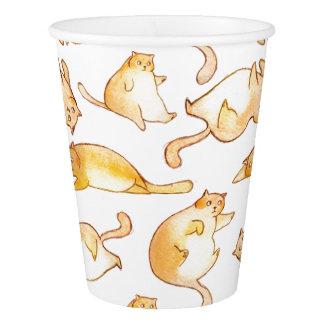 再使用可能な脂肪質猫のコップ 紙コップ