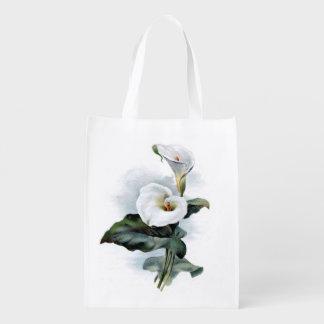 再使用可能な買い物袋のオランダカイウユリのデザイン エコバッグ