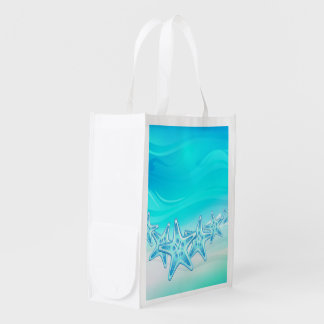 再使用可能な買い物袋のヒトデ エコバッグ