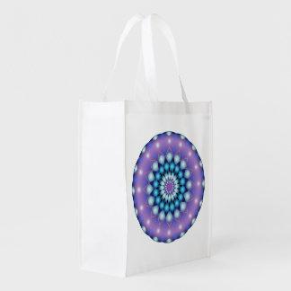 再使用可能な買い物袋の曼荼羅 エコバッグ