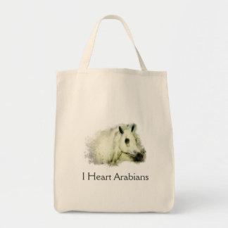 再使用可能な買い物袋- Iのハートのアラビア人! トートバッグ