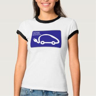 再充電のStnの電気自動車、交通標識、フランス Tシャツ