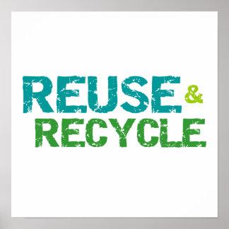 再利用およびリサイクルのTシャツおよびギフト ポスター