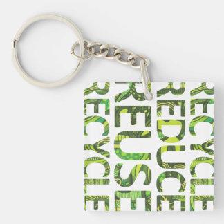 再利用のリサイクルの環境にやさしいことをしようKeychainを減らして下さい キーホルダー