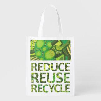 再利用のリサイクルの緑の再使用可能な買い物袋を減らして下さい エコバッグ