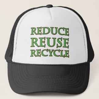 再利用のリサイクルを減らして下さい キャップ