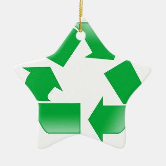 再利用のリサイクルを減らして下さい セラミックオーナメント