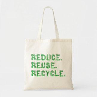 再利用のリサイクルを減らして下さい トートバッグ