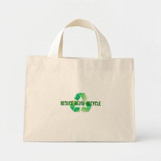 再利用のリサイクルを減らして下さい ミニトートバッグ