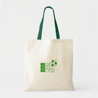 再利用はリサイクルを減らします トートバッグ