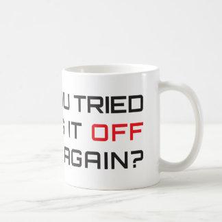 再度それをそしてつけることを試みましたか。 コーヒーマグカップ