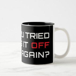 再度それをそしてつけることを試みましたか。 ツートーンマグカップ