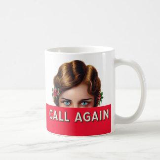 再度呼出しタバコ入れのラベルのコーヒー・マグ コーヒーマグカップ