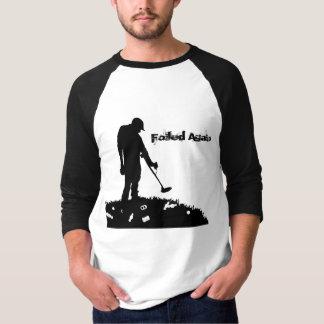 -再度失敗- 3/4枚の袖のワイシャツを検出する金属 Tシャツ