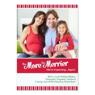 再度期待するメリークリスマスの妊娠 カード