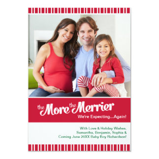再度期待するメリークリスマスの妊娠 12.7 X 17.8 インビテーションカード