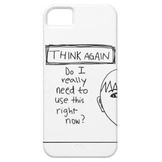 """""""再度考えて下さい"""" iPhoneの場合(人)を iPhone SE/5/5s ケース"""