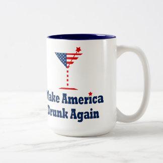 再度飲まれるアメリカを作って下さい ツートーンマグカップ