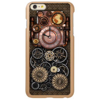 再来ヴィンテージのSteampunkの時計 Incipio Feather Shine iPhone 6 Plusケース