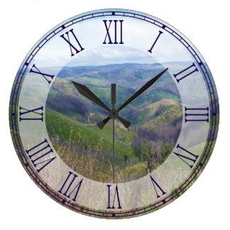 再生のビクトリアオーストラリアローマ数字の時計 ラージ壁時計