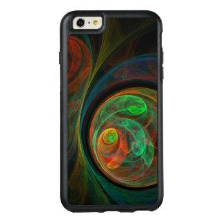 再生の緑の抽象美術 オッターボックスiPhone 6/6S PLUSケース